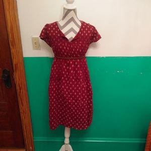 Dark wine cute and comfy lined dress XL